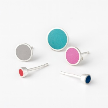 Solo Colour Dot Stud Earrings - Pick 'n' Mix and Lost Earring Club!