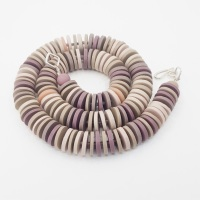 Medium Disc Necklace in Dusky Pinks