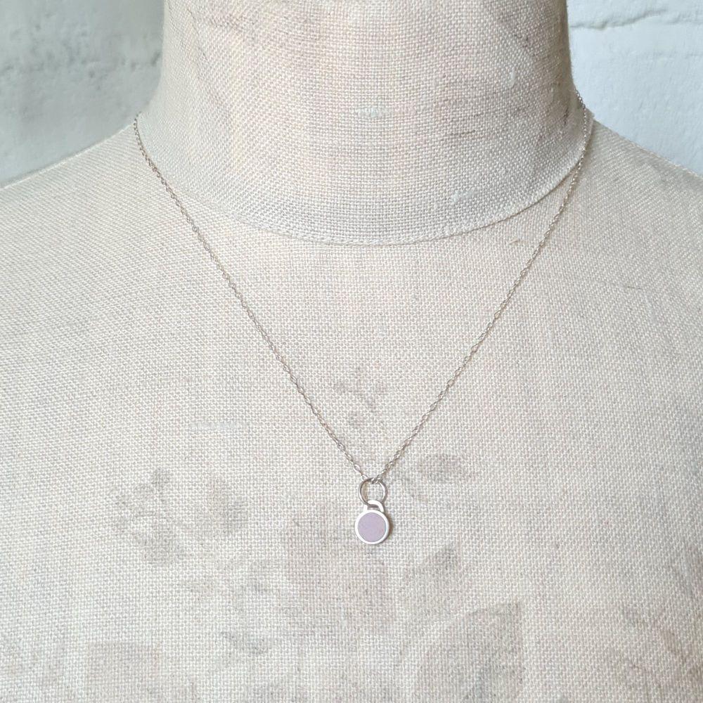 Small Lilac Colour Dot Pendant