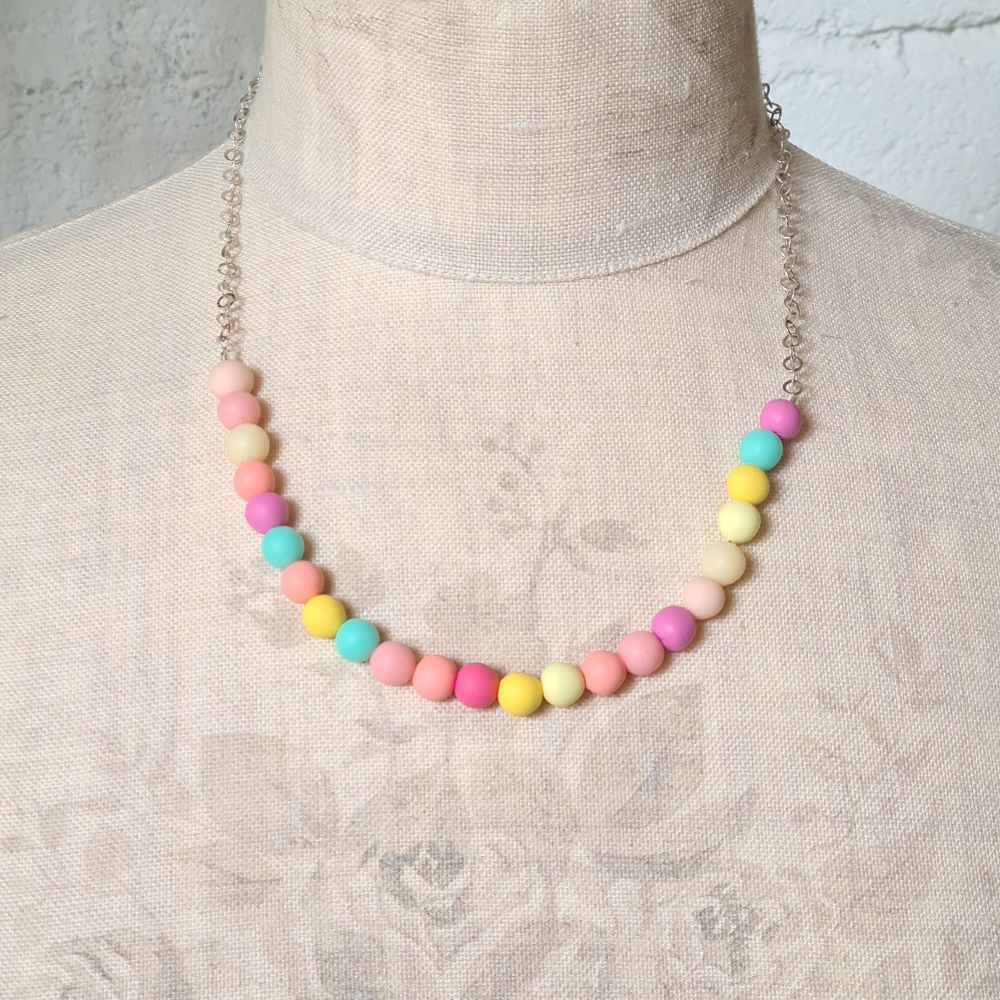 Pastel Coloured Small Bead Necklace