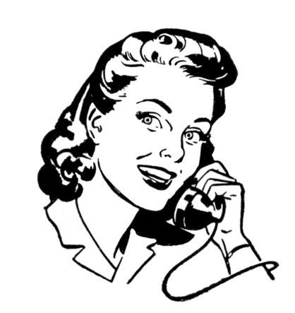 Phone-lady-Retro-Image