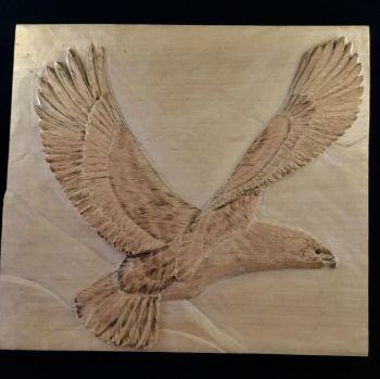 Golden eagle plaque
