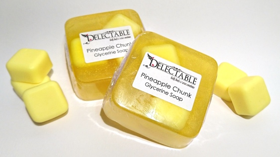 Pineapple Chunk Glycerine Soap - NEW!