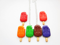 Half Eaten Style Ice Lollipop Pendant Necklace