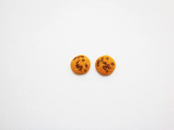 Anne's Mini Chocolate Chip Cookie Earring studs