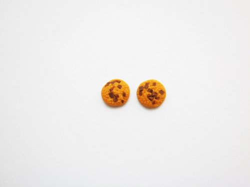 Mini Chocolate Chip Cookie Earring studs