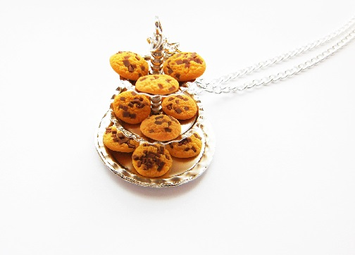Chocolate Chip Cookie 2 Tier Necklace