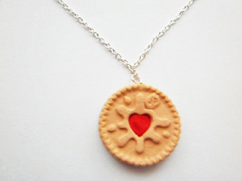 Jammie Dodger Silver Necklace
