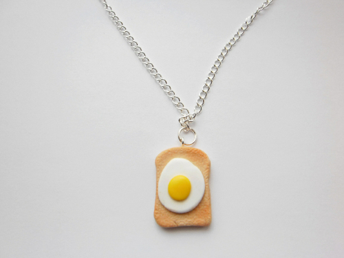 Egg On Toast Necklace