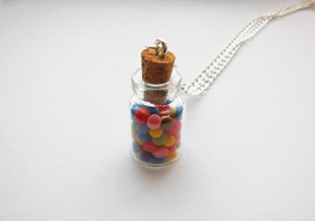 Mini Sweets In A Glass Jar Necklace