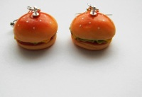 Cheese Burger Earrings