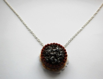 Chocolate Cake Dessert Necklace