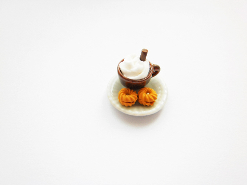 Hot Chocolate With Cream Biscuit Adjustable Ring