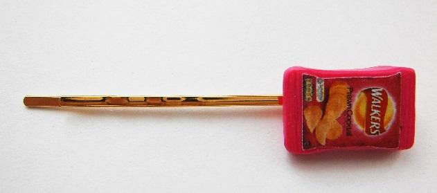 Pink Pawn Cocktail Crisp Packet Hair Grip