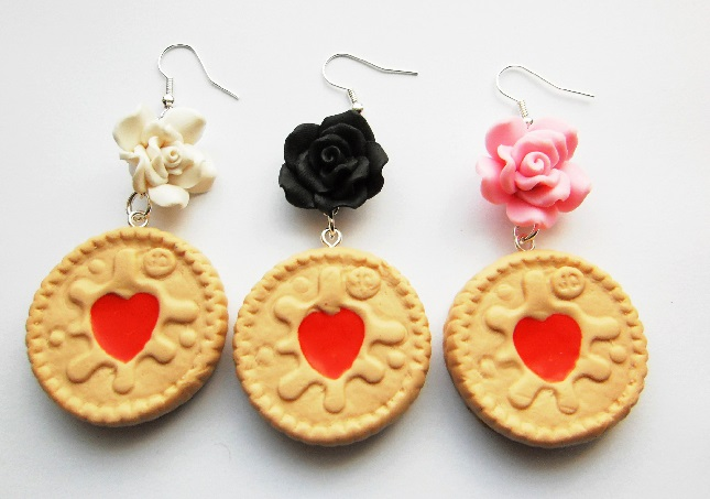 Vintage Rose Jammie Dodger Earrings