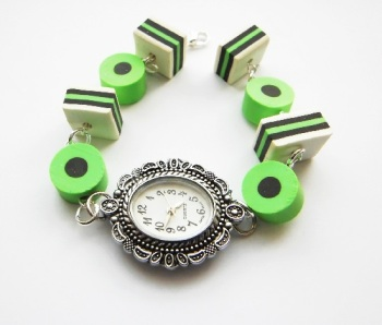 Anne's Liquorice Allsorts Beaded Sweet Bracelet Style Watch