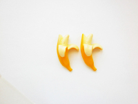 Half Peeled Banana Style Stud Earrings.