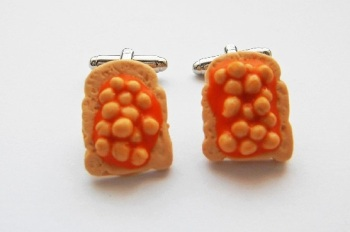 Beans On Toast Cufflinks