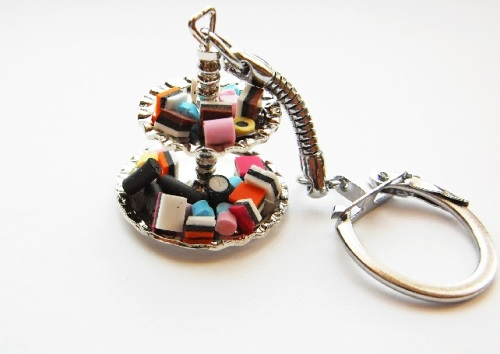Anne's Liquorice Allsorts 2 Tier Stand Keyring