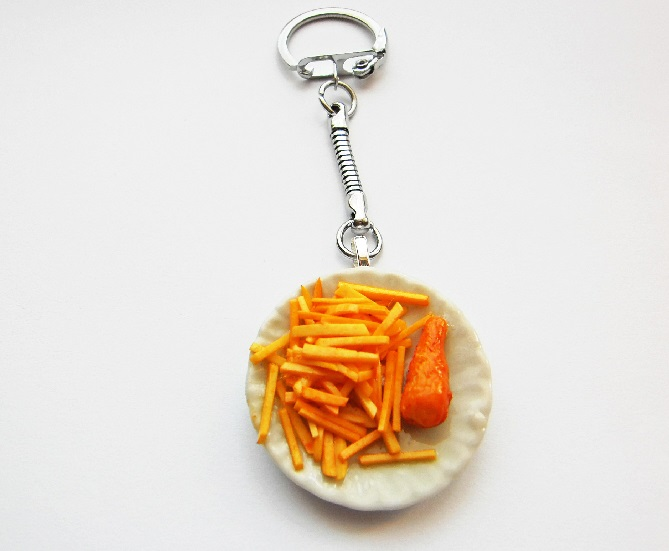 Fish And Chips Keyring