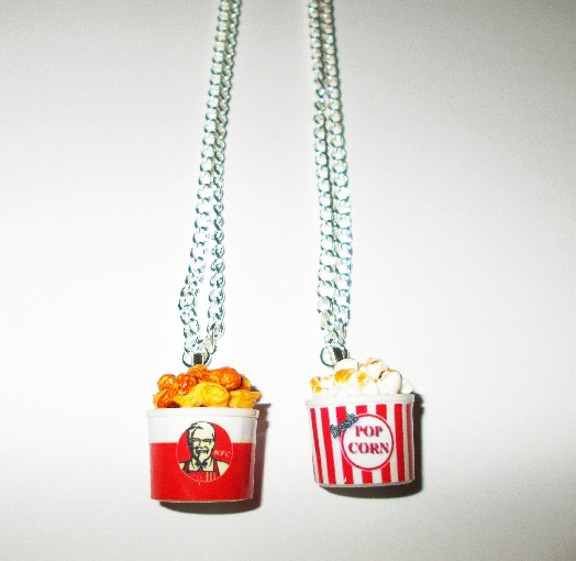 Rare Junk Food Bucket Necklace