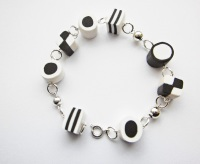 White And Black Liquorice Allsorts Bracelet