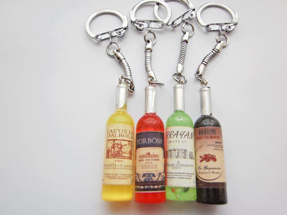 Wine Bottle Keyring