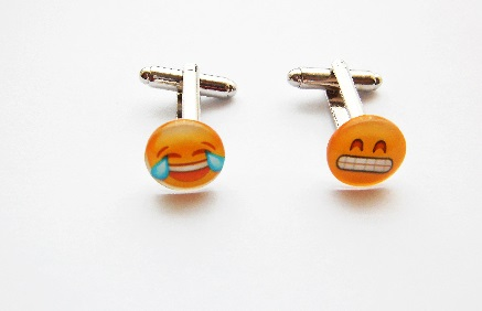 Glass Emoji Cufflinks