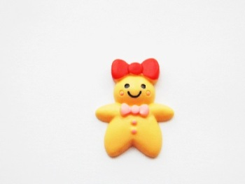 Red Bow Gingerbread Man Ring