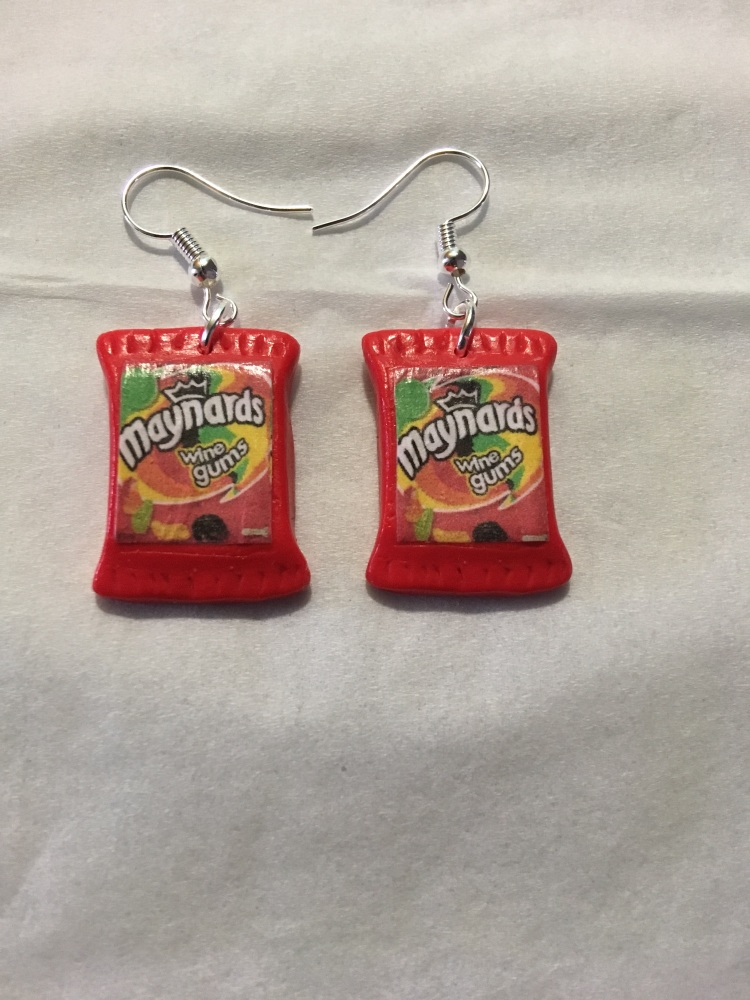 Fimo Maynard Wine Gum Earrings
