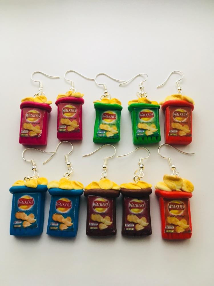 Open Crisp Packet Earrings
