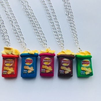 Open Crisp Packet Necklace