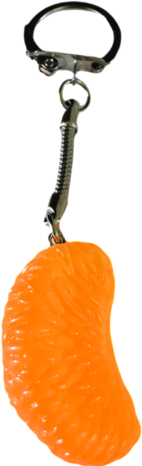 Satsuma slice keyring