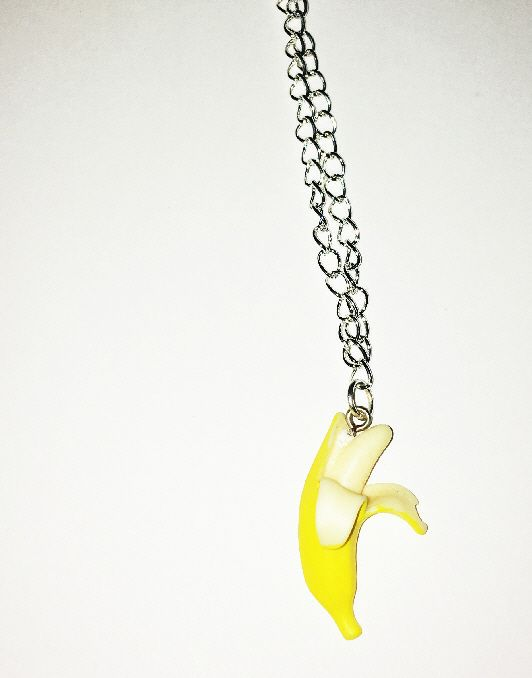 Banana Split Silver Necklace