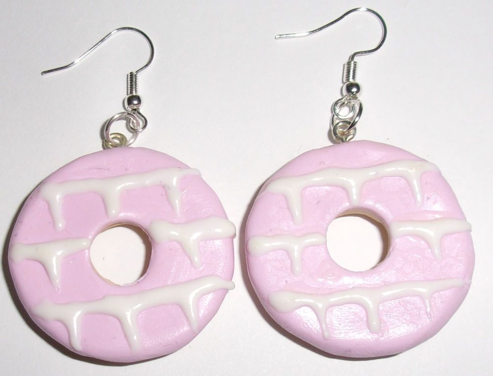 Large Pink Party Ring Earrings
