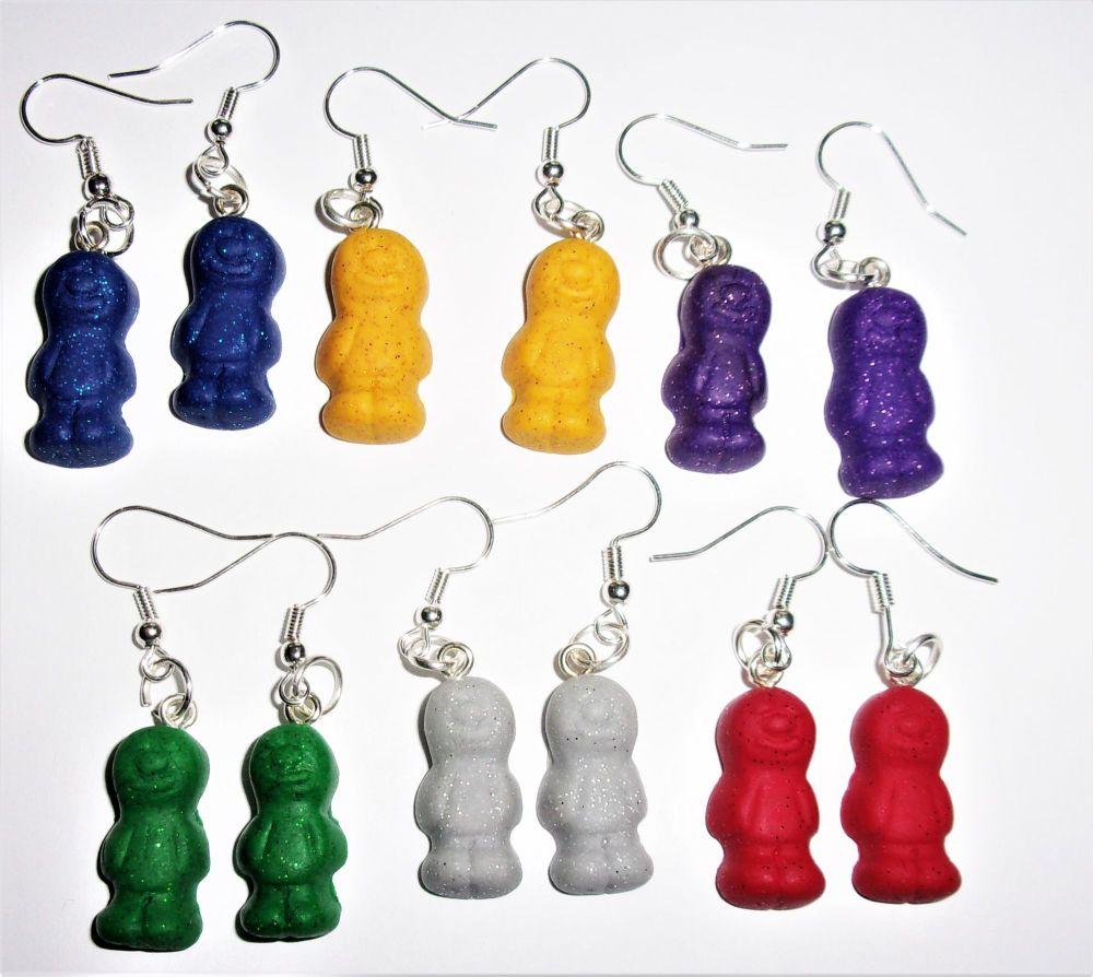 Mini Glitter Jelly Baby Earrings