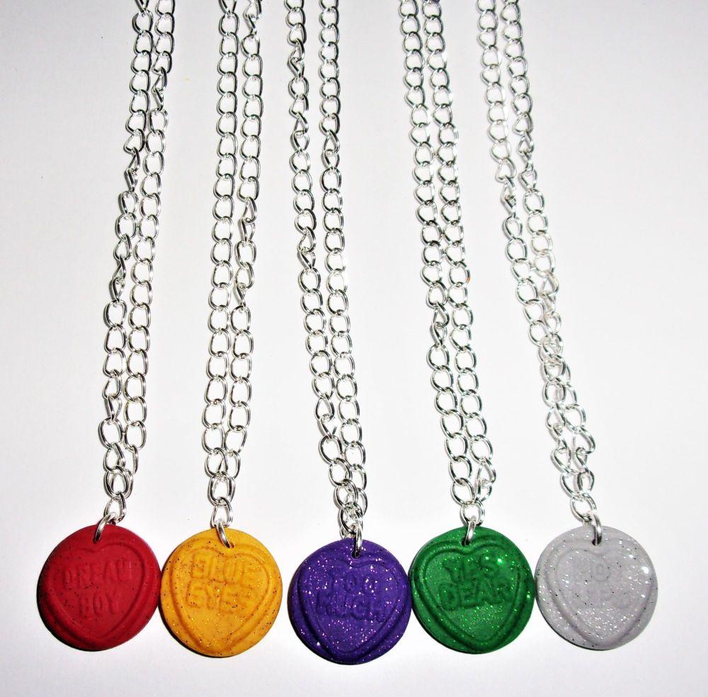 Glitter Love Heart Necklace