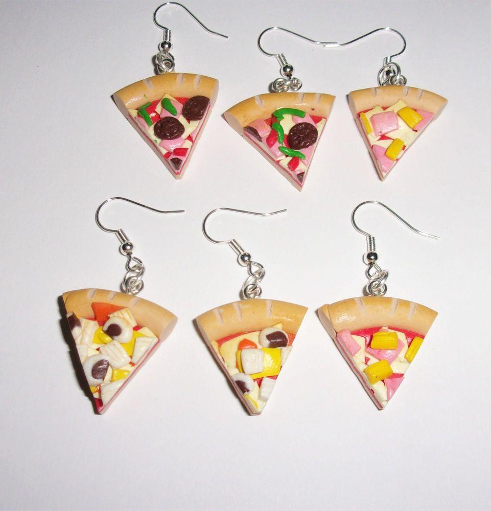 Pizza Sliced Earrings