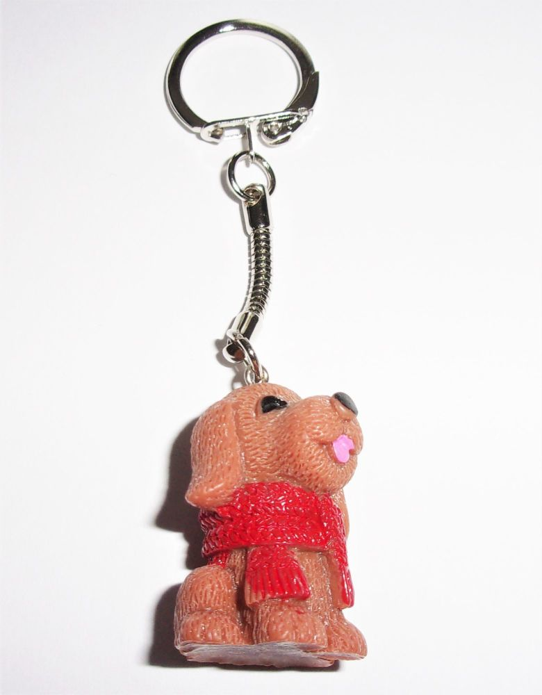 Dog With A Scarf Keyring