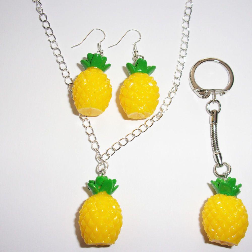 Pineapple Silver Gift Set