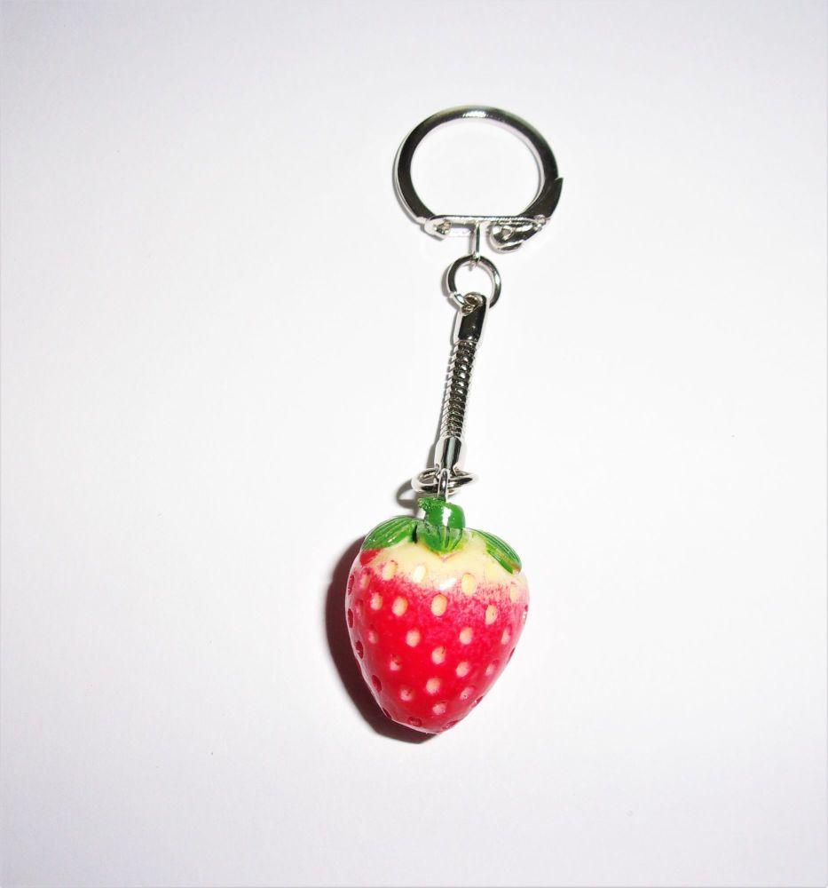 Strawberry Keyring