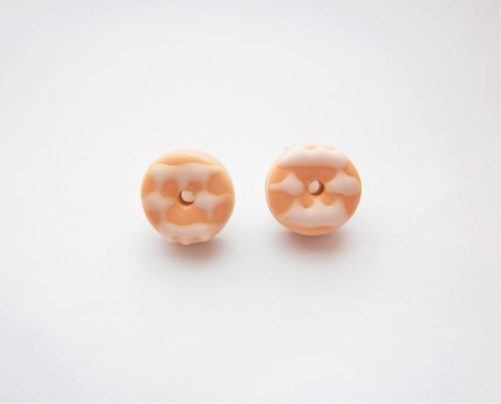 Mini Party Ring Stud Earrings