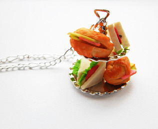Miniature Snack Food 2 Tier Necklace