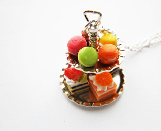 Miniature Cake 2 Tier Necklace