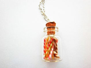 Mixed Coloured Rock Stick Sweet Necklace
