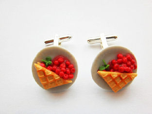 Strawberry Pie 2 Cufflinks
