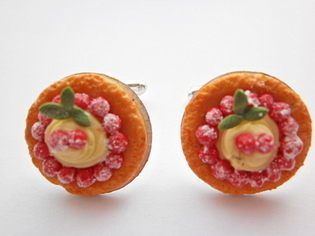 Strawberry Quiche Pie Cufflinks