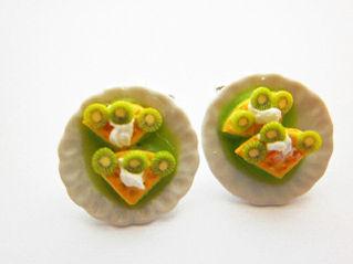 Lime Waffle Pie Cufflinks