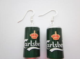 Green Carlsberg Earrings