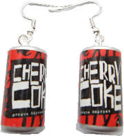 Cherry Retro Coke Earrings